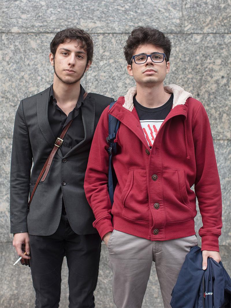 <p>Michele e Daniele, piazza Missori</p>
