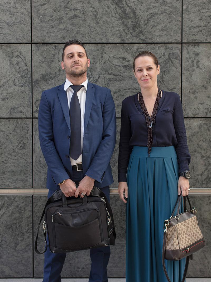 <p>Ivan e Claudia, piazza Gae Aulenti</p>